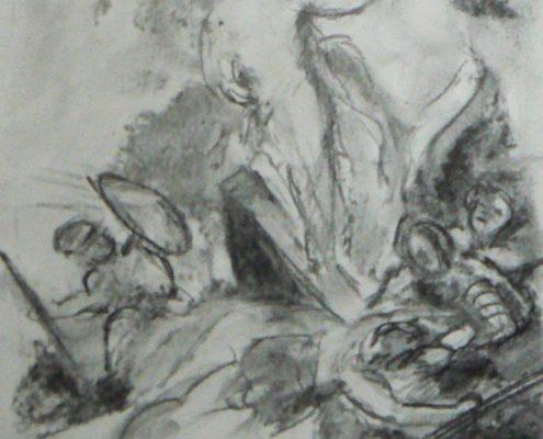 Kurz kreslení pro dospělé Praha - studie hlavy, figury
