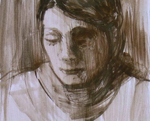 Kurz malování Praha - studie portrétu
