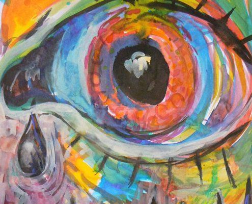 Kurz malování pro dospělé Praha - malba temerou