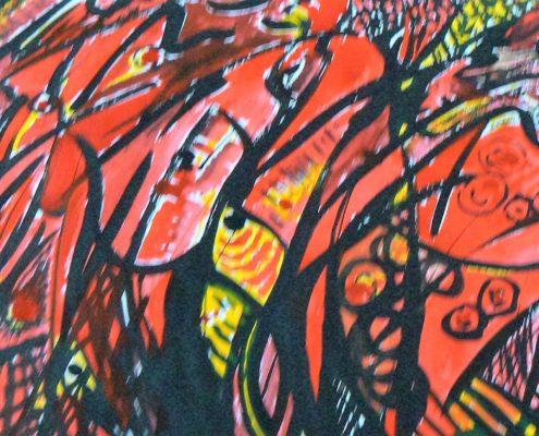 Kurz malování pro dospělé Praha - malba tuší