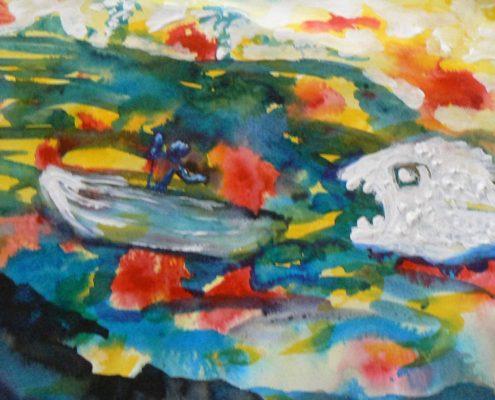 Kurz malování pro dospělé Praha - malování temerovými barvami