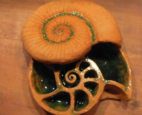 Keramika pro děti - bílá keramická hlína a sklo