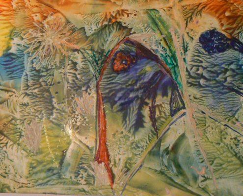 malování voskem Ateliér ŠUM