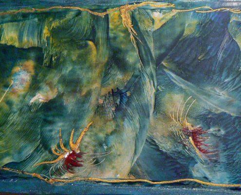 malování horkým voskem enkaustika