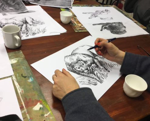 kurz kresby malby ateliér ŠUM