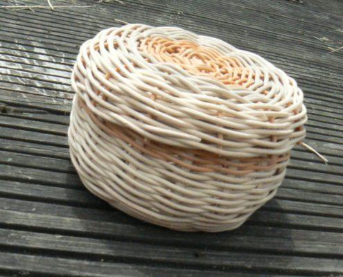 vánoční dárek pletení košíků