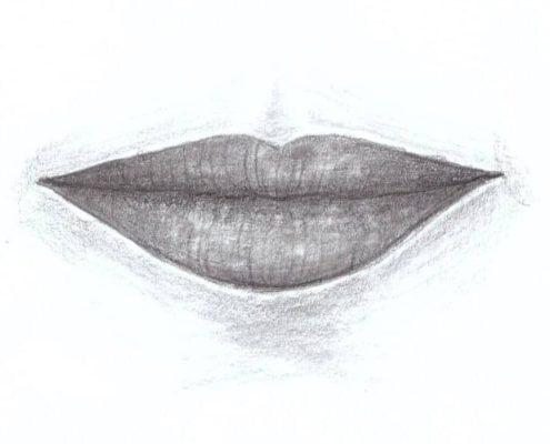 jak nakreslit rty kurz kreslení