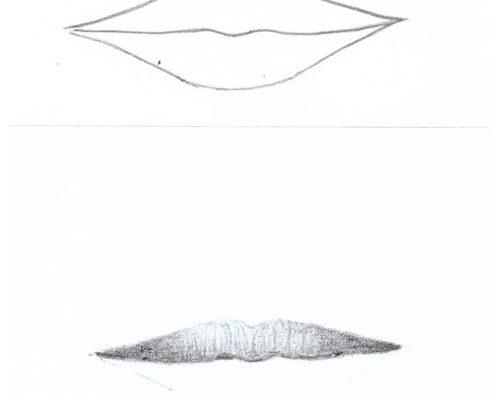 kurz kreslení rty