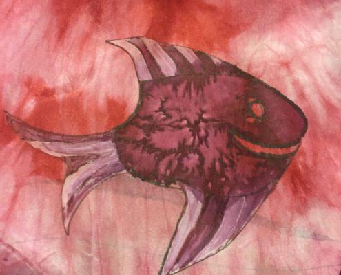 batika šinori a malba na hedvábí Ateliér ŠUM
