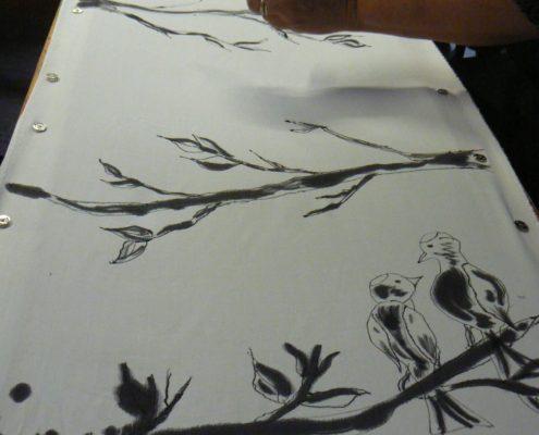 malba na hedvábí Ateliér ŠUM