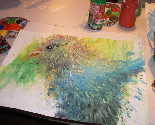 malba obrazu Atelier ŠUM