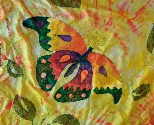 malování na hedvábí ateliér ŠUM