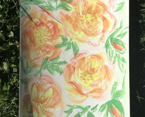 malba akvarelem Botanická zahrada