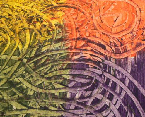 detail škrobového papíru