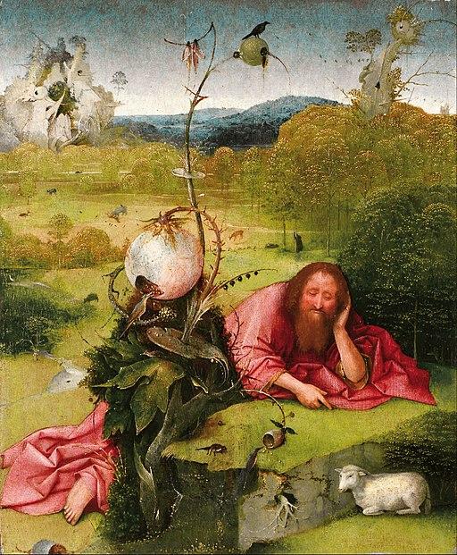 Svatý Jan Křtitel rozjímající