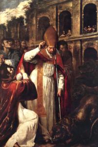Mučení sv. Januaria v amfiteatru v Puzzuoli