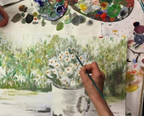 jak namalovat květinu